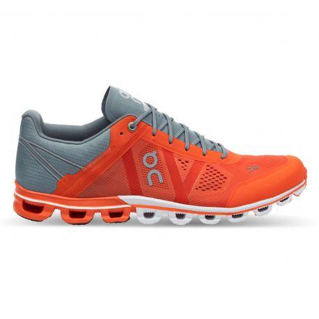 On Running Cloudflow Orange Glacier Homme