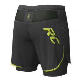 Scott Hybrid Shorts RC RUN black yellow Homme