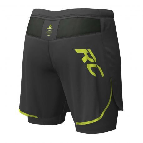 Scott Hybrid Shorts RC RUN black yellow Homme