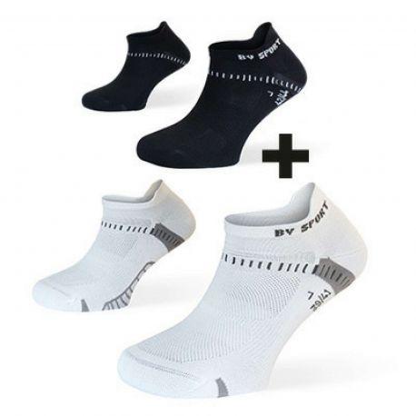 Socquettes Light One Ultra Courte BV SPORT Pack de 2 blanche noire