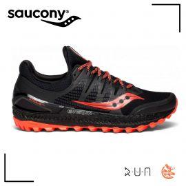 Saucony Xodus Iso 3 Black Noir rouge Vizi Red Homme