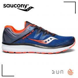Saucony Guide ISO Bleu Gris Rouge Homme