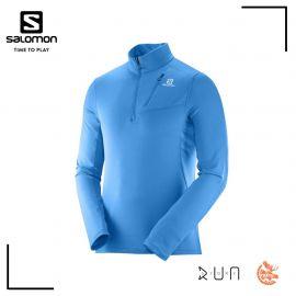 Salomon Grid HZ Mid Zip Tshirt Hawaiian Surf Homme