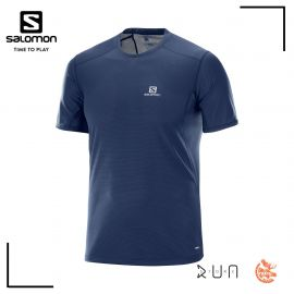 Salomon Trail Runner Tshirt Dress Blue Homme