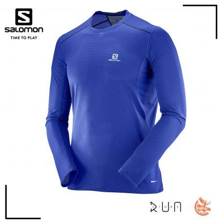 super popular 5730b e84f1 Salomon S-Lab Sense Tee Trail Running Manches courtes Transcend Blue Homme