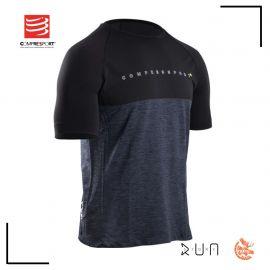 Compressport Training Tshirt Manches Courtes Black Edition 10