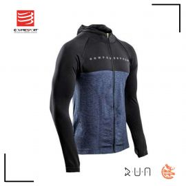 Compressport 3D thermo seamless zip hoodie Black Edition 10