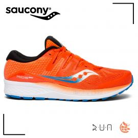 Saucony Ride ISO Blanc Bleu Rouge Homme