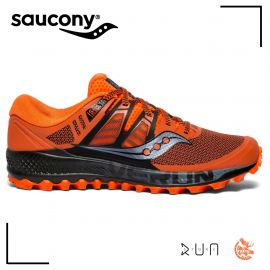 Saucony Peregrine Iso Orange Black Homme