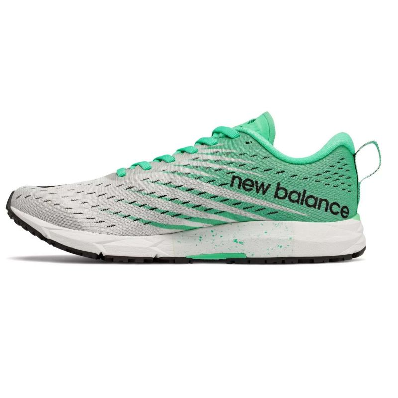New Balance 1500 V5 White with Neon Emerald Femme
