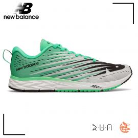 New Balance 1500 V5 White with Neon Emerald Femme drop 6 mm