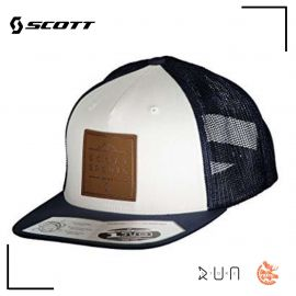 Scott Cap Leather Patch Navy White