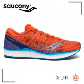Saucony Freedom Iso Orange Bleu Homme