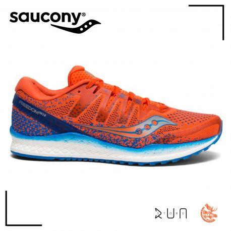 Saucony Freedom Iso Orange Bleu Homme