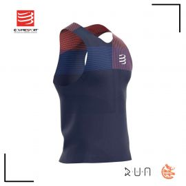 Compressport PoRacing Singlet Blue Homme