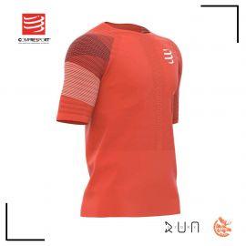 Compressport Racing Tshirt Blood Orange Homme