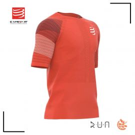 Compressport Racing Tshirt Blood Orange Homme