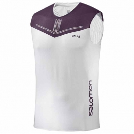 Salomon S-Lab Sense Tank White Maverick Homme
