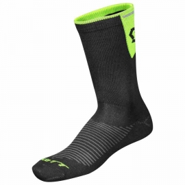 Scott chaussettes Road Long Black black neon yellow